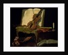 Still Life with a Violin by Jean-Baptiste Oudry