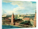 View of the city of Berlin with Altes Museum and Cathedrale from the roof of the Church of Friedrichswerder by Johann Philipp Eduard Gartner