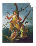 The woodcutters by Francisco Jose de Goya y Lucientes