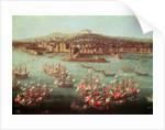 The fleet of King Charles III of Spain before the city of Naples by Antonio Joli