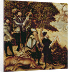 Johann Friedrich the Magnanimous, Elector of Saxony and Emperor Charles V hunting deer near Hartenfels Castle, Torgau by Lucas
