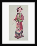Japanese empress in imperial costume by Japanese School