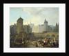 Quai de Gesvres, the Palais and Notre Dame Pump by Jacques Albert Senave