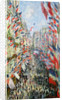 The Rue Montorgueil, Paris, Celebration of June 30 by Claude Monet