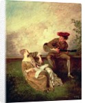 The Singing Lesson by Jean Antoine Watteau