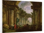 Imaginary View of the Grand Gallery of the Louvre in Ruins by Hubert Robert