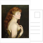 Portrait of a Young Red Haired Woman by Charles Maurin