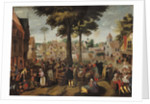 The Flemish Fair by Marten van Cleve
