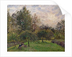 Apple Trees and Poplars in the Setting Sun by Camille Pissarro