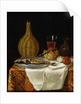 Still Life of a Herring and Flask by French School