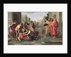 The Death of Sapphira by Nicolas Poussin