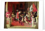 King Philip V of Spain Making Marshal James Fitzjames Duke of Berwick a Cavalier of the Golden Fleece after the Battle of Almansa by Jean Auguste Dominique Ingres