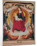 Coronation of the Virgin, centre panel from the Bourbon Altarpiece by Master of Moulins