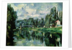 The Banks of the Marne at Creteil by Paul Cezanne