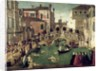 The Miracle of the Cross on San Lorenzo Bridge by Gentile Bellini