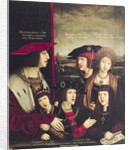 The Emperor Maximilian I with his wife Mary of Burgundy, and his sons Charles V and Philip I by Bernhard Strigel