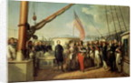 Meeting between Louis-Philippe I and Queen Victoria at Le Treport by Francois Auguste Biard