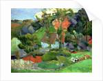 Landscape at Pont Aven by Paul Gauguin