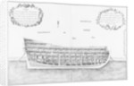 Cross-section of a vessel lined inside on its full height by plate 33