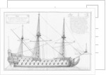 Profile of a vessel with its masts by plate 42
