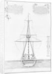 Cross-section of an armed and equipped vessel by plate 45