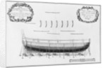 Profile of a partly planked vessel by French School