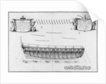 Cross-section of a vessel lined inside by plate 24
