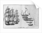 A Dutch store ship, boats known as pinasses and various small boats, Bayonne by French School