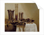 The Dessert by Willem Claesz. Heda