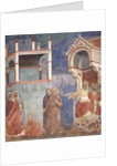The Trial by Fire, St. Francis offers to walk through fire, to convert the Sultan of Egypt in 1219 by Giotto di Bondone