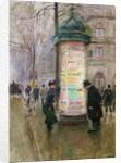 The Colonne Morris by Jean Beraud