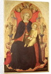 Madonna and Child Enthroned with the Donor Vulciano Belgarzone di Zara by Nicolo di Pietro