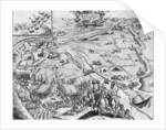Siege of Ile de Re with the representation of the Royal army by French School