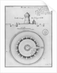 Belle Isle en Mer, plan and elevation of the tower of Houat by French School