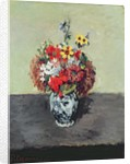 Flowers in a Delft vase by Paul Cezanne