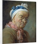 Self Portrait with Spectacles by Jean-Baptiste Simeon Chardin