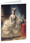 Marie Antoinette Queen of France by Elisabeth Louise Vigee-Lebrun