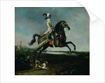 Equestrian Portrait of Marie-Antoinette in Hunting Attire by Louis Auguste Brun or Brun de Versoix