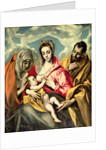 Virgin and Child with SS. Anne and Joseph by El Greco