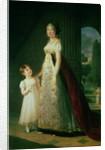 Maria Carolina Bonaparte Queen of Naples with her daughter Laetitia Murat by Elisabeth Louise Vigee-Lebrun