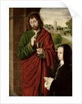 Anne of France Lady of Beaujeu, Duchess of Bourbon, presented by St. John the Evangelist by Master of Moulins