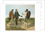 La Rencontre, or Bonjour Monsieur Courbet by Gustave Courbet