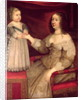 Anne of Austria with her son Louis XIV by French School
