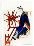A Chinese Woman spinning, Qianlong Period by Chinese School