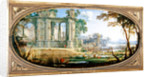 Landscape with classical ruins by Pierre Patel