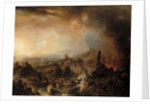 The Burning of Moscow in 1812 by Jean Charles Langlois