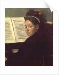 Mademoiselle Marie Dihau at the piano by Edgar Degas