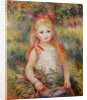 Little Girl Carrying Flowers, or The Little Gleaner by Pierre Auguste Renoir