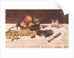 Still Life: Fruit on a Table by Edouard Manet