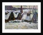 Breton village under snow by Paul Gauguin